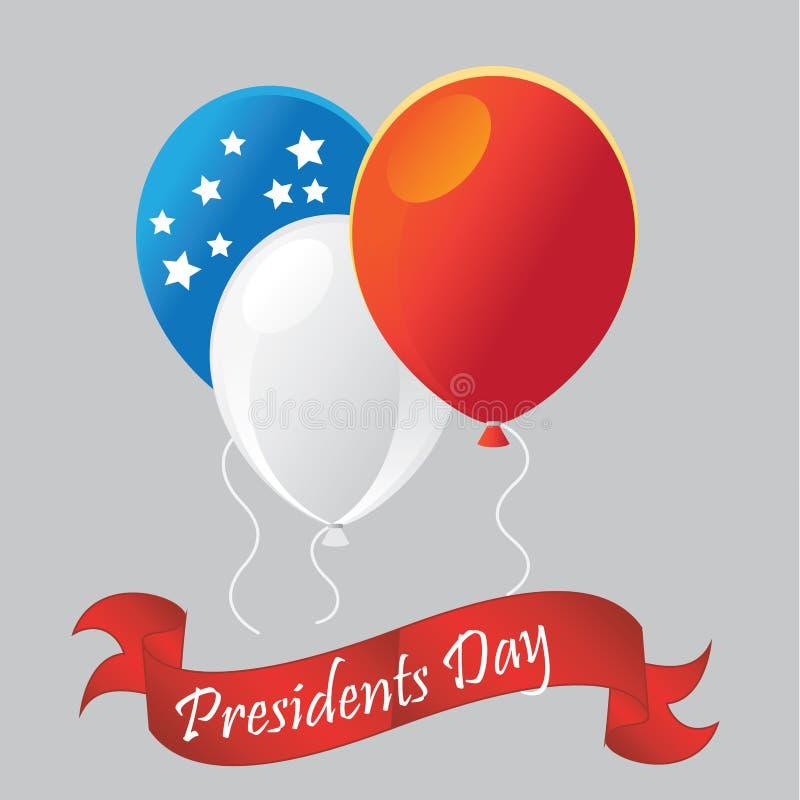 Jour de présidents illustration de vecteur