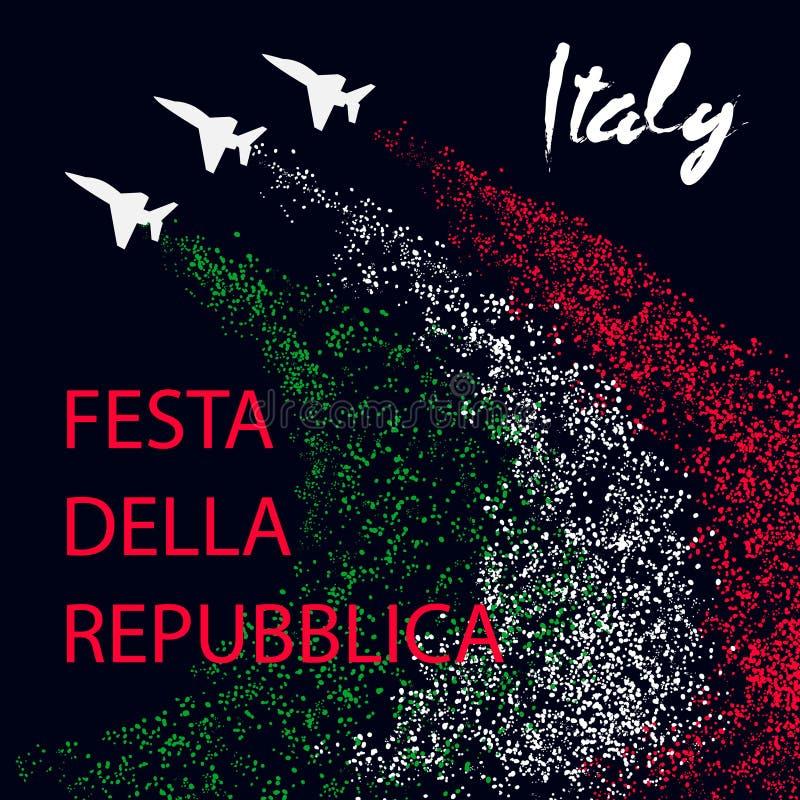 Jour de République dans le concept de construction de l'Italie illustration de vecteur