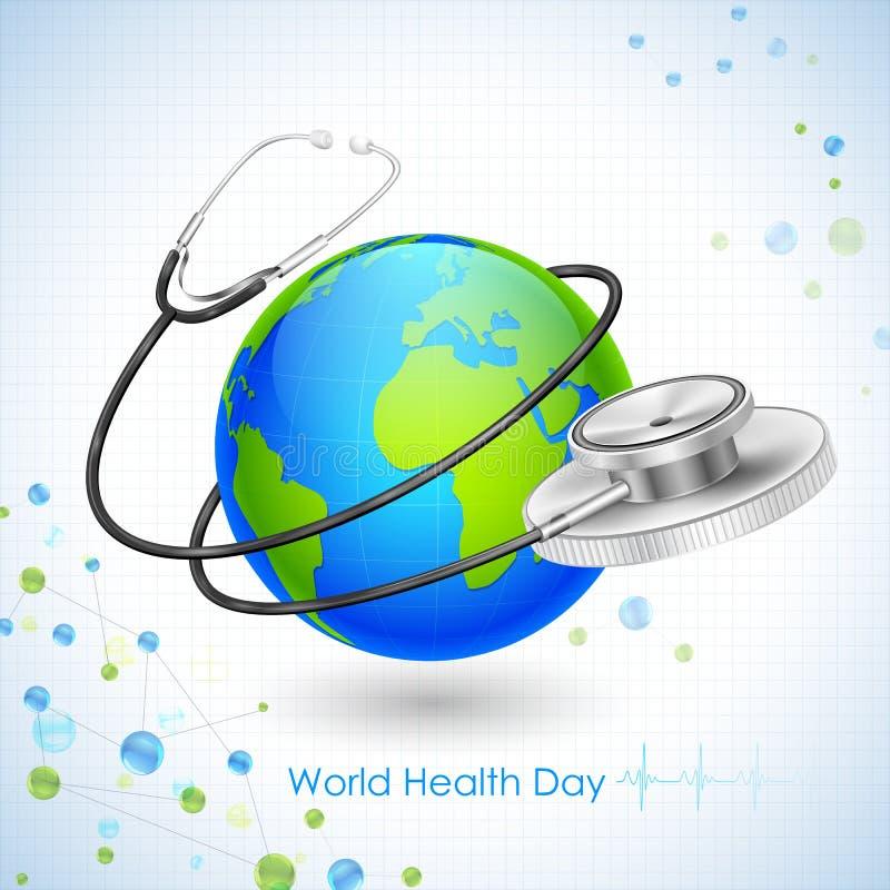 Jour de santé du monde illustration libre de droits