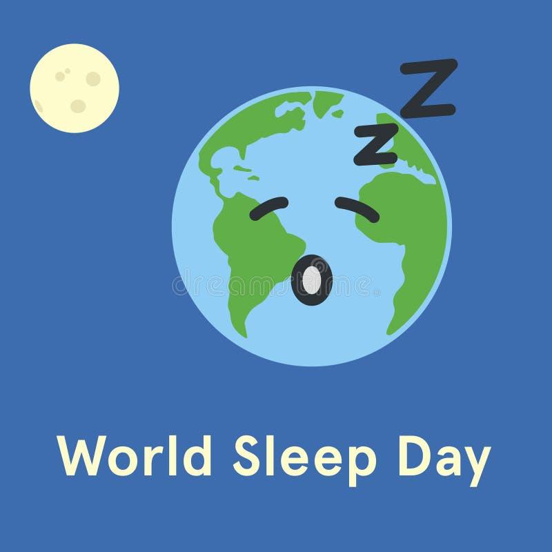 Jour de sommeil du monde illustration libre de droits
