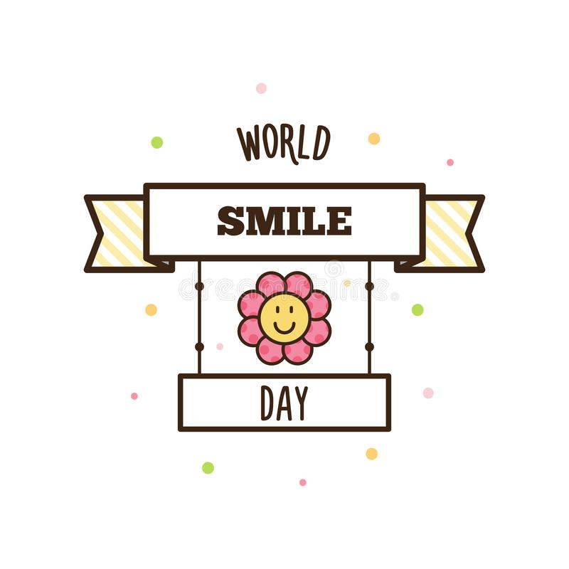 Jour de sourire du monde Illustration de vecteur illustration stock