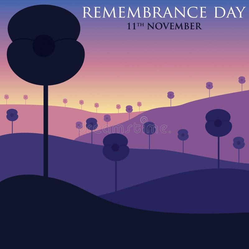 Jour de souvenir illustration libre de droits