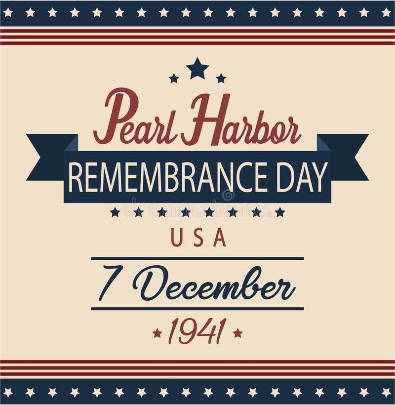 Jour de souvenir de Pearl Harbor illustration de vecteur