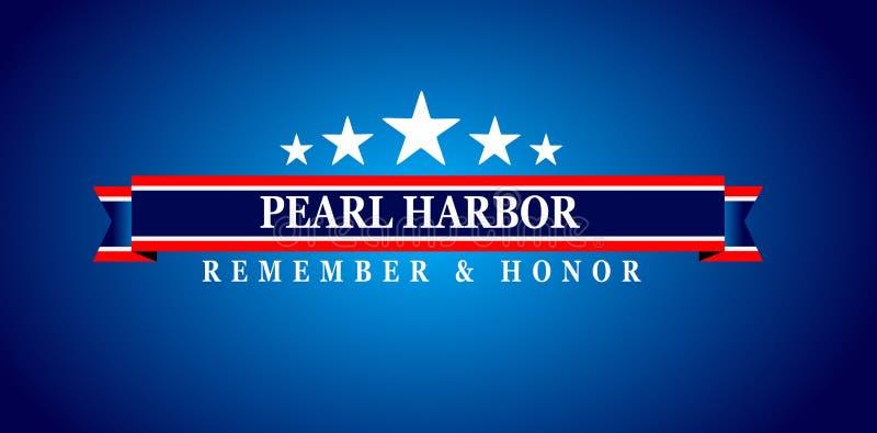 Jour de souvenir de Pearl Harbor illustration stock