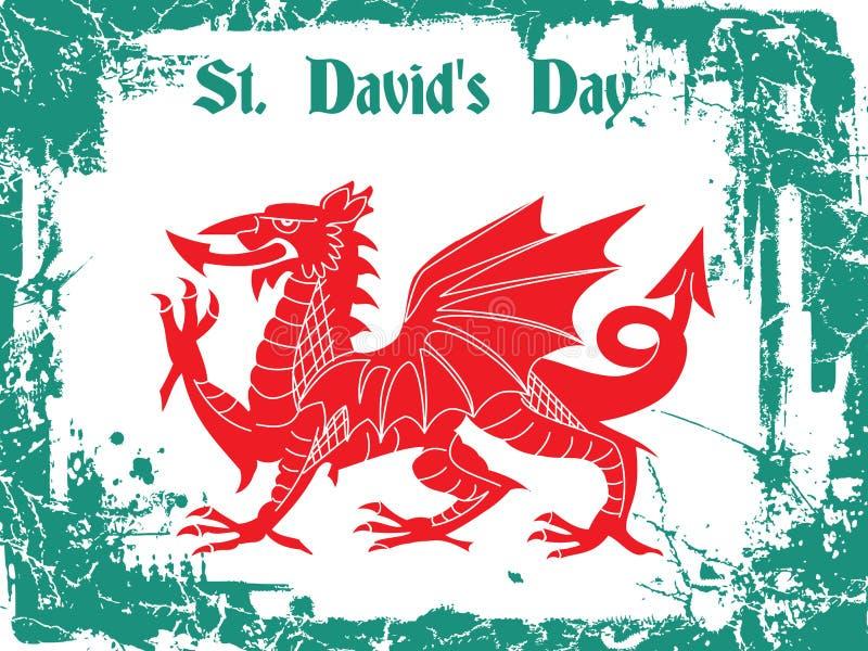 Jour de St Davids illustration de vecteur