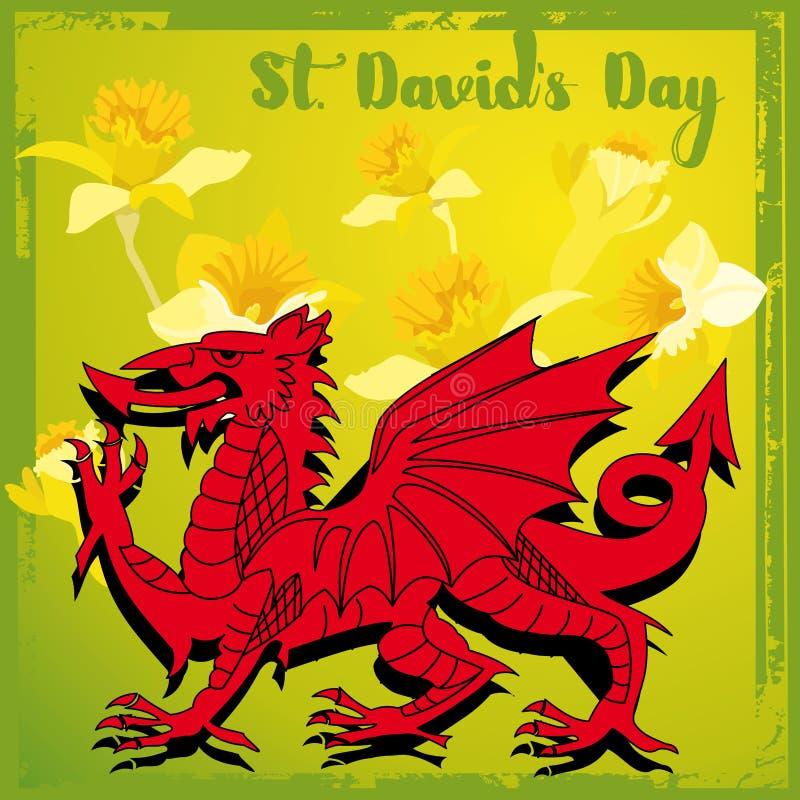 Jour de St Davids illustration libre de droits
