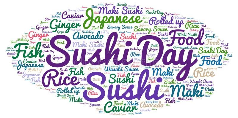 Jour de sushi images stock