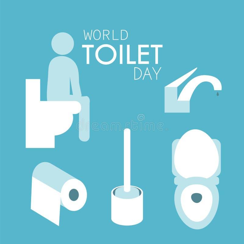 Jour de toilette du monde illustration de vecteur
