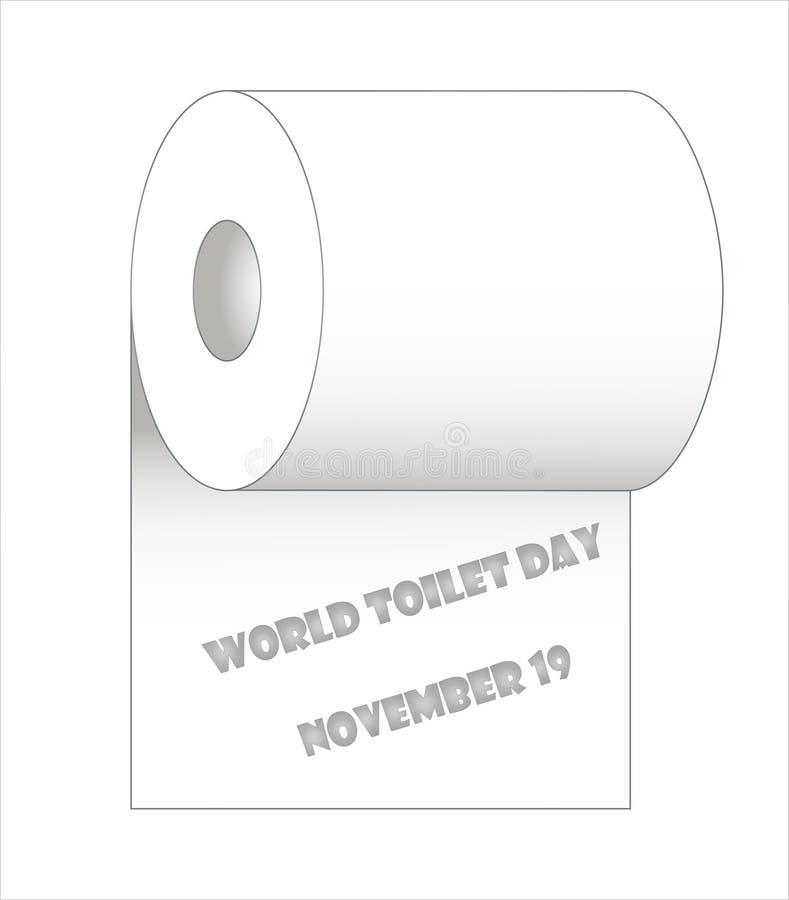 Jour de toilette du monde, le 19 novembre illustration libre de droits