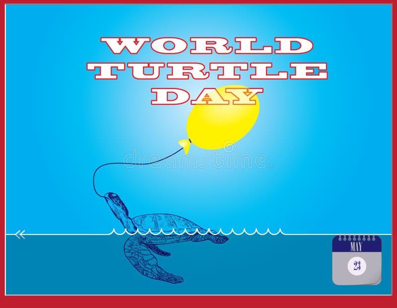Jour de tortue du monde de carte postale illustration libre de droits