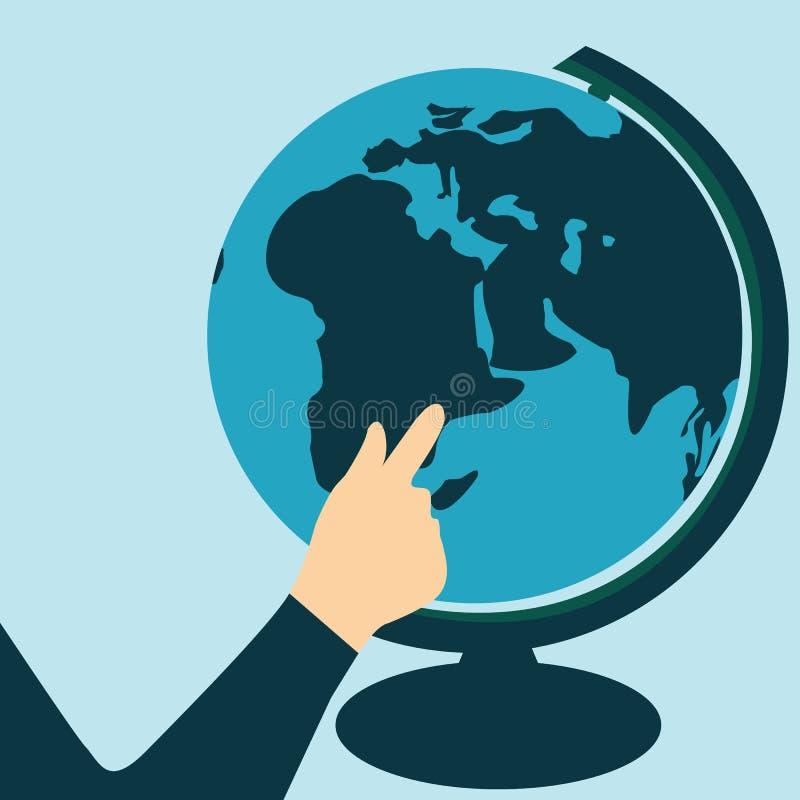 Jour de tourisme du monde d'illustration de vecteur Vecteur de globe illustration stock