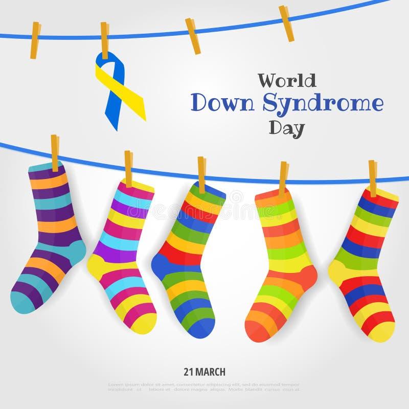 Jour de trisomie 21 du monde illustration de vecteur