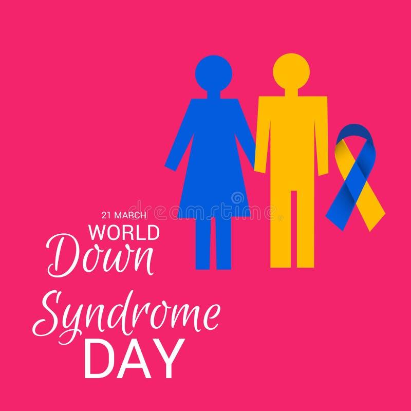 Jour de trisomie 21 du monde illustration stock