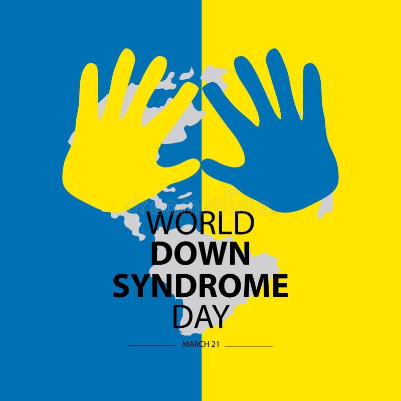 Jour de trisomie 21 du monde illustration libre de droits