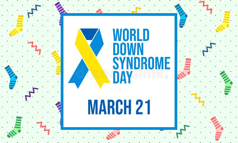 Jour de trisomie 21 du monde - vecteur illustration de vecteur