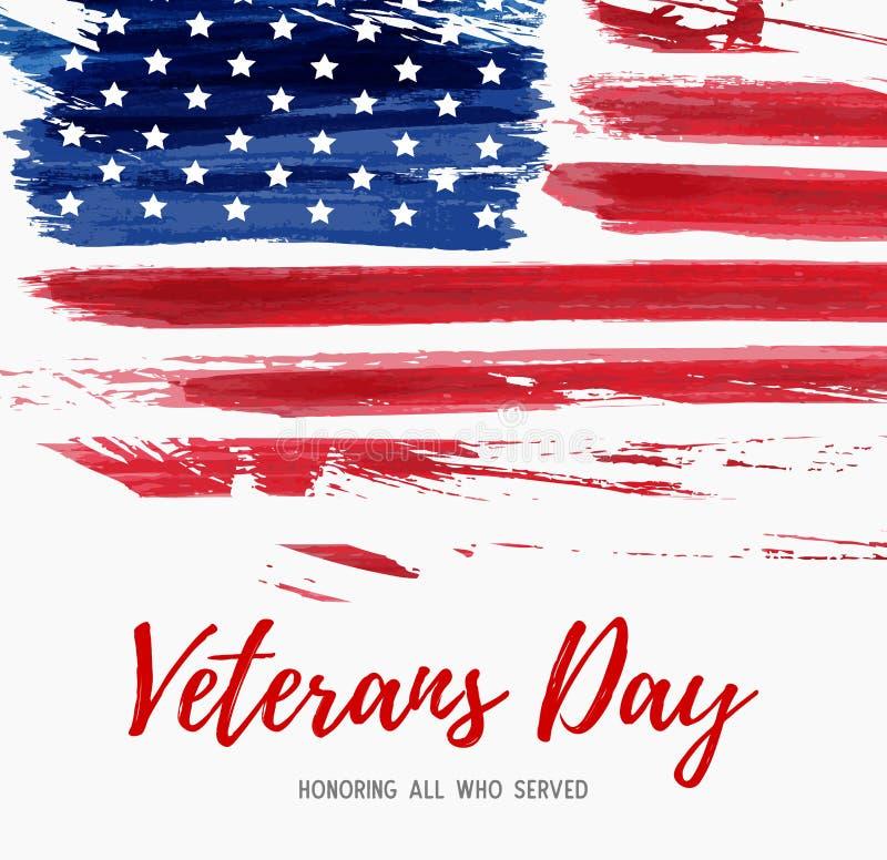 Jour de vétérans des Etats-Unis illustration libre de droits