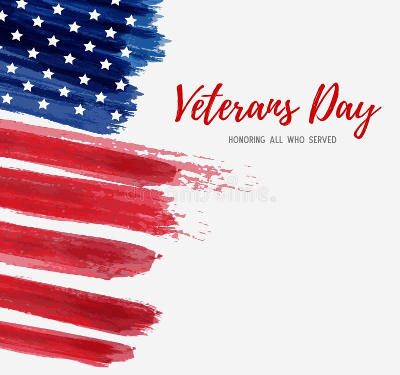 Jour de vétérans des Etats-Unis illustration de vecteur