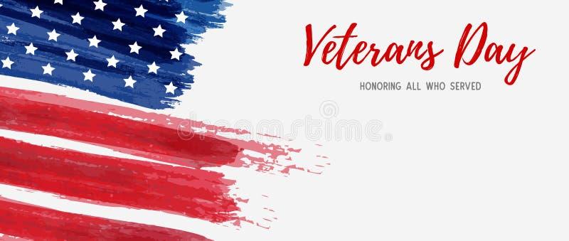 Jour de vétérans des Etats-Unis illustration stock