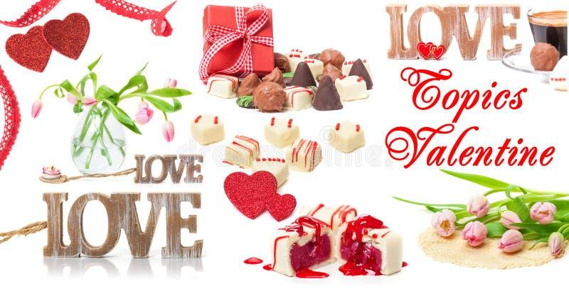 Jour de valentines, amour, fleurs, cadeau photo stock