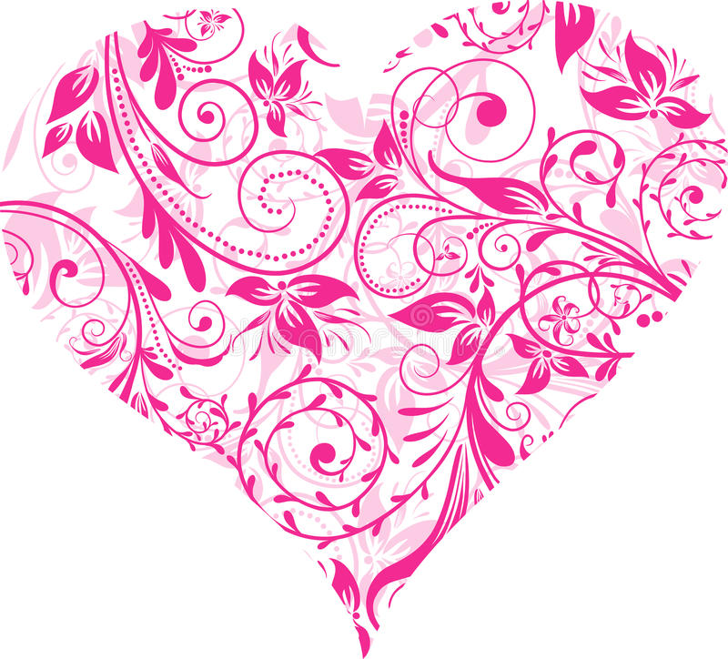 Jour de Valentines, coeur, fond,   illustration libre de droits
