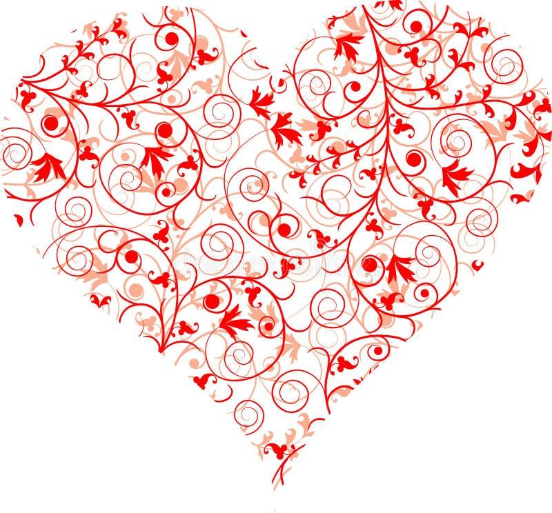 Jour de Valentines, coeur, fond,   illustration de vecteur
