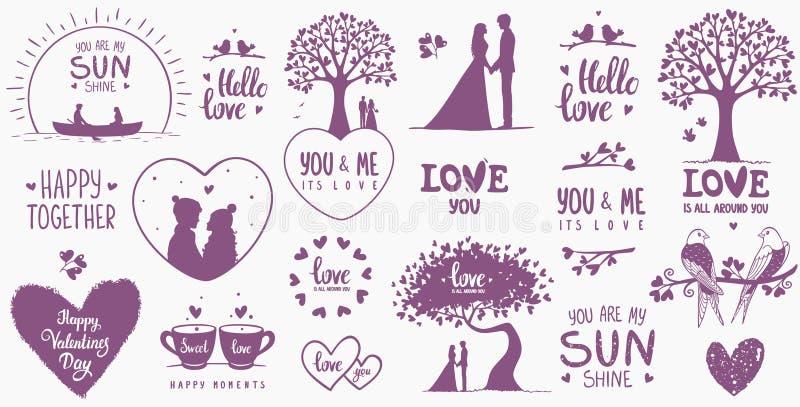 Jour de valentines de conception d'éléments illustration stock