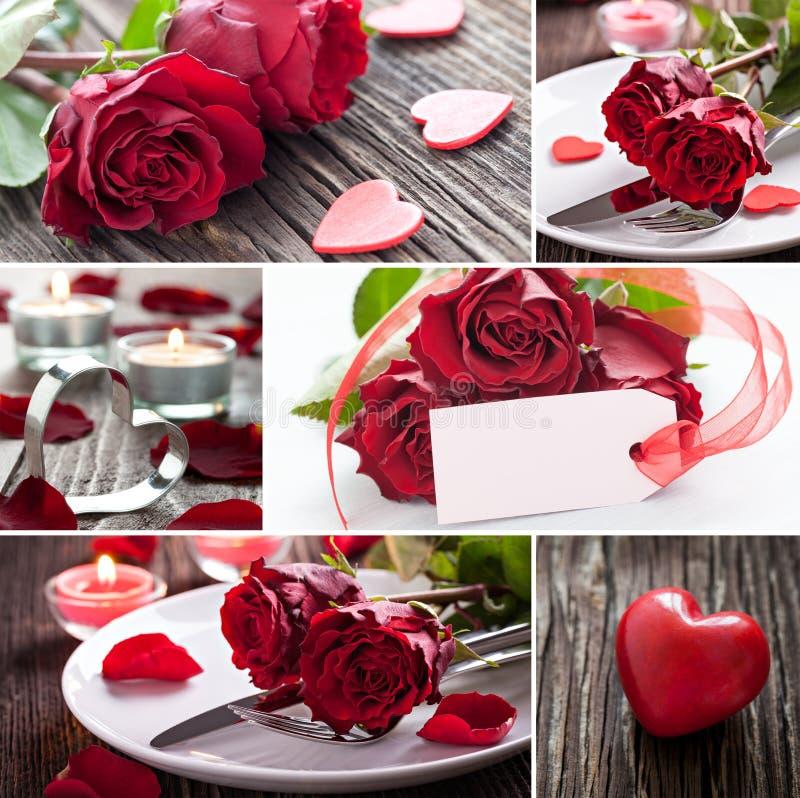 Jour de valentines de collage photographie stock libre de droits