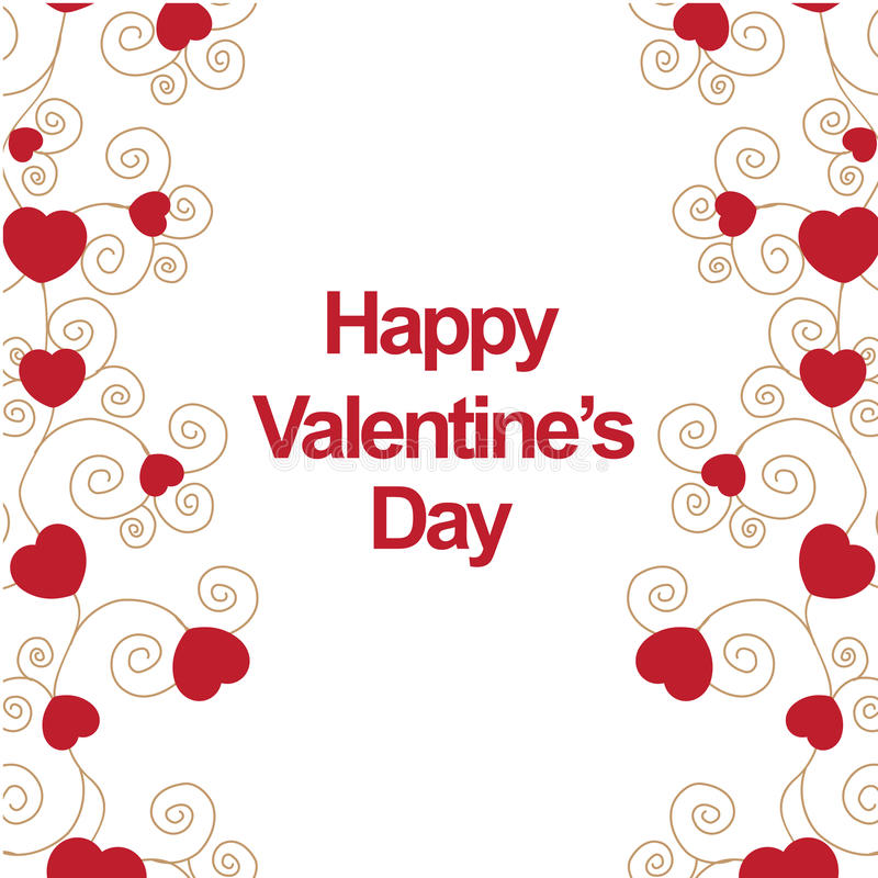 Jour de valentines heureux illustration de vecteur