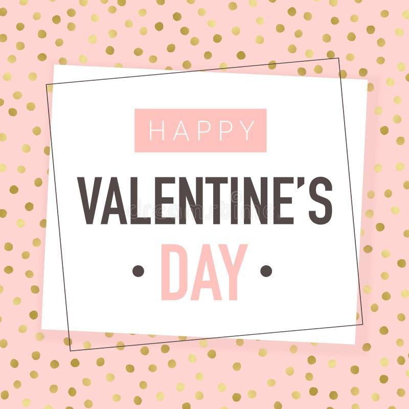 Jour de valentines heureux Design de carte de salutation de vecteur illustration de vecteur