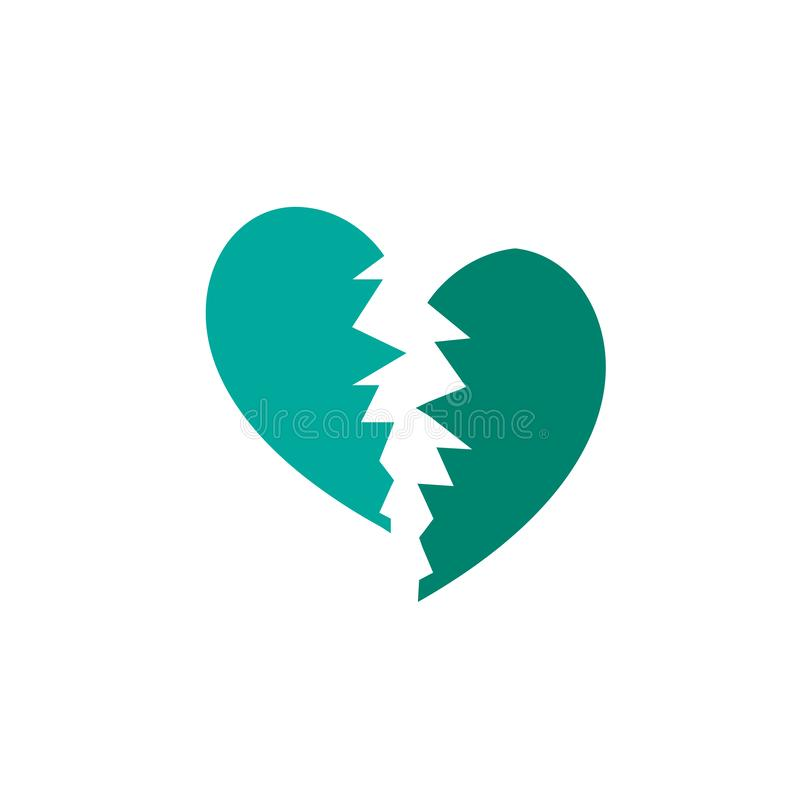 Jour de valentines, icône de immense chagrin Élément d'icône de Saint Valentin de Web pour des applis mobiles de concept et de We illustration libre de droits