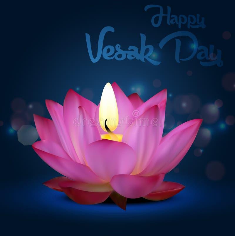 Jour de Vesak sur le fond bleu illustration libre de droits