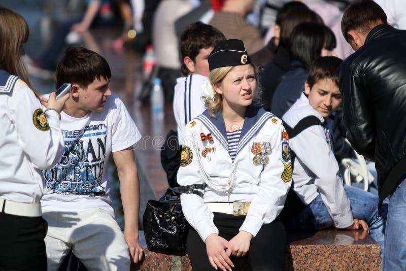 Jour de victoire de célébrations à Moscou photos stock
