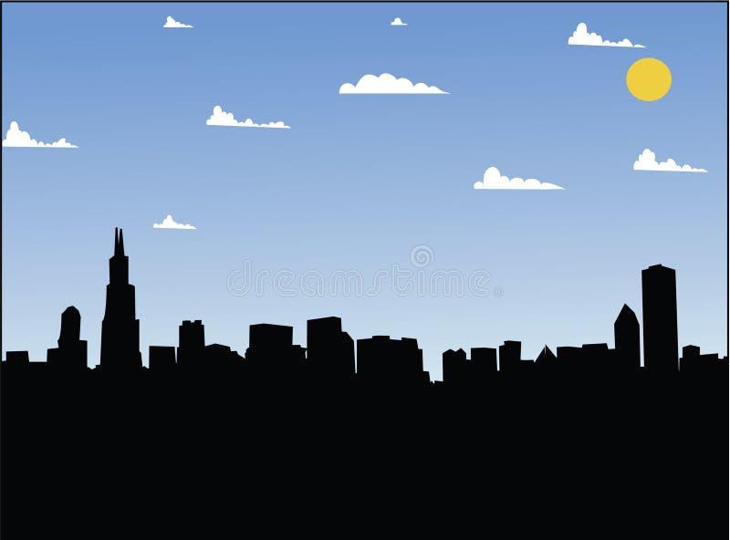 Jour de villes illustration de vecteur
