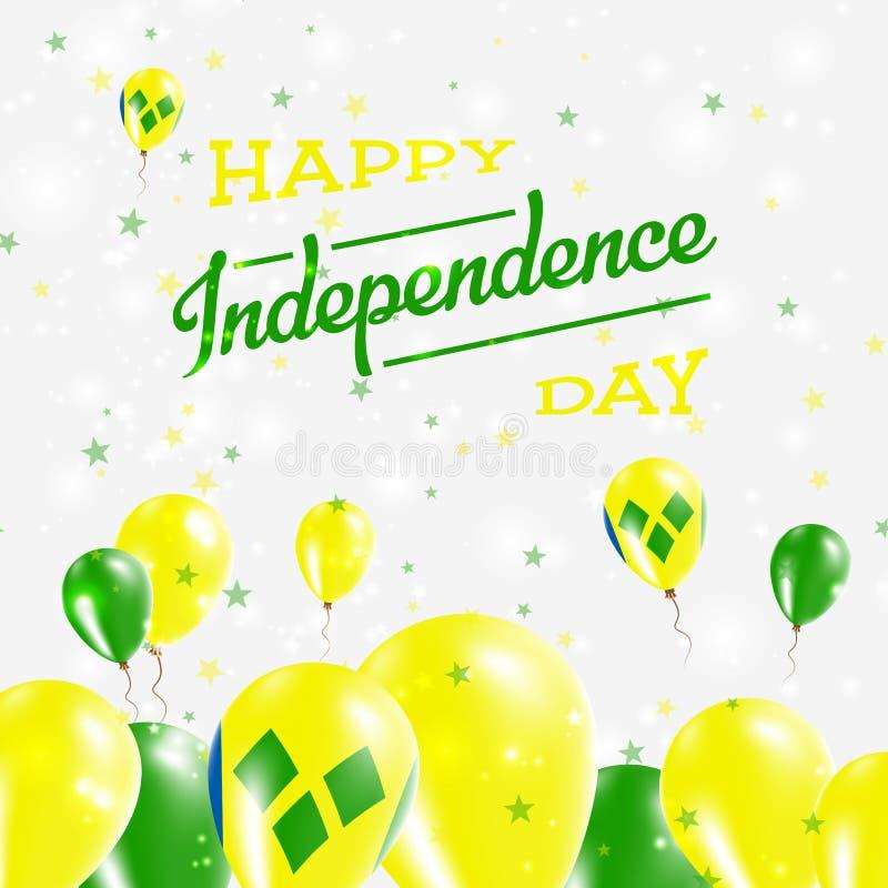 Jour de Vincent And The Grenadines Independence de saint illustration libre de droits