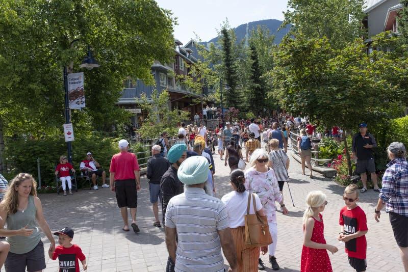 Jour du Canada au village de Whistler photos stock