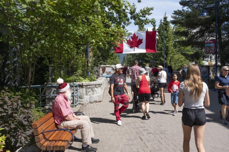 Jour du Canada au village de Whistler image libre de droits