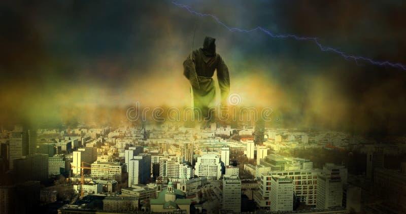 Jour du Jugement dernier d'apocalypse photos stock