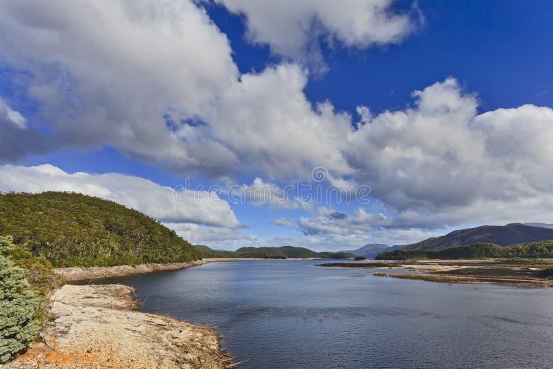 Jour du lac 02 tasmania Burbery photographie stock libre de droits