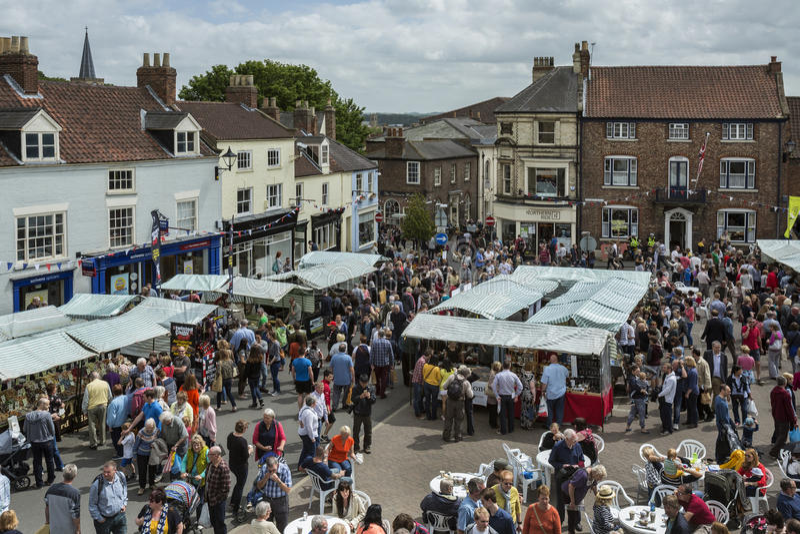 Jour du marché - Malton - Yorkshire - Angleterre photographie stock