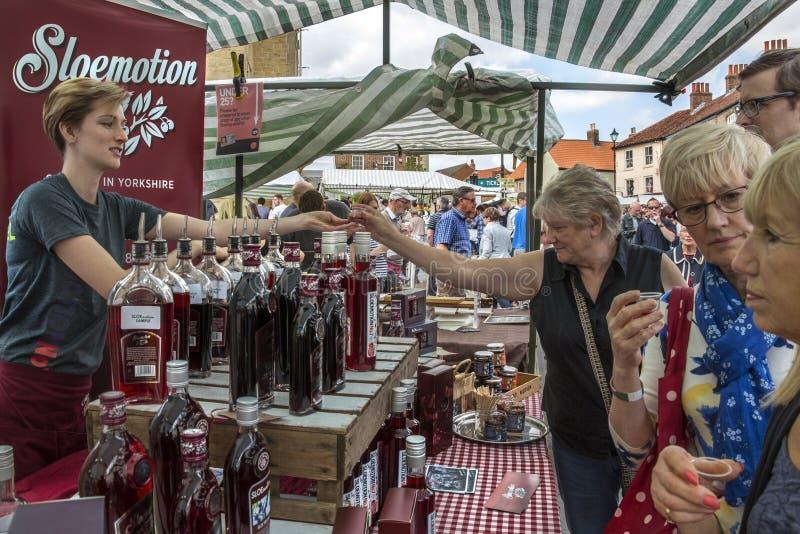 Jour du marché - Malton - Yorkshire - Angleterre images libres de droits