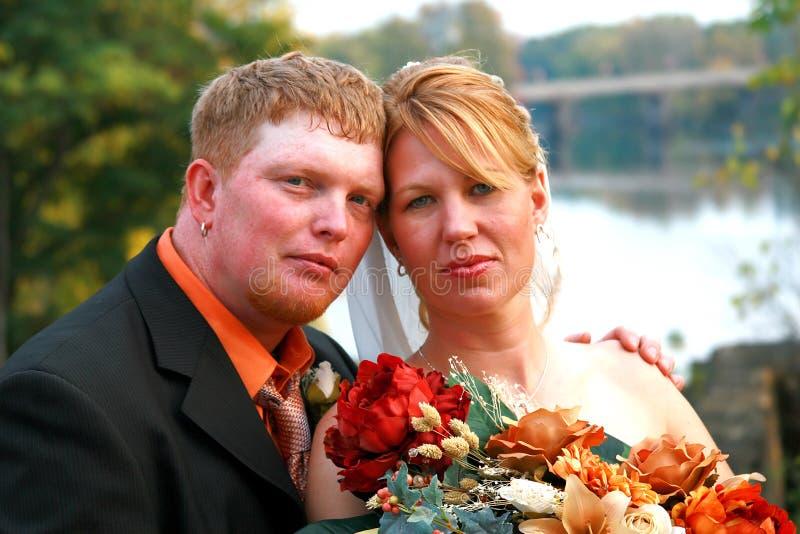 Jour du mariage d'automne images stock