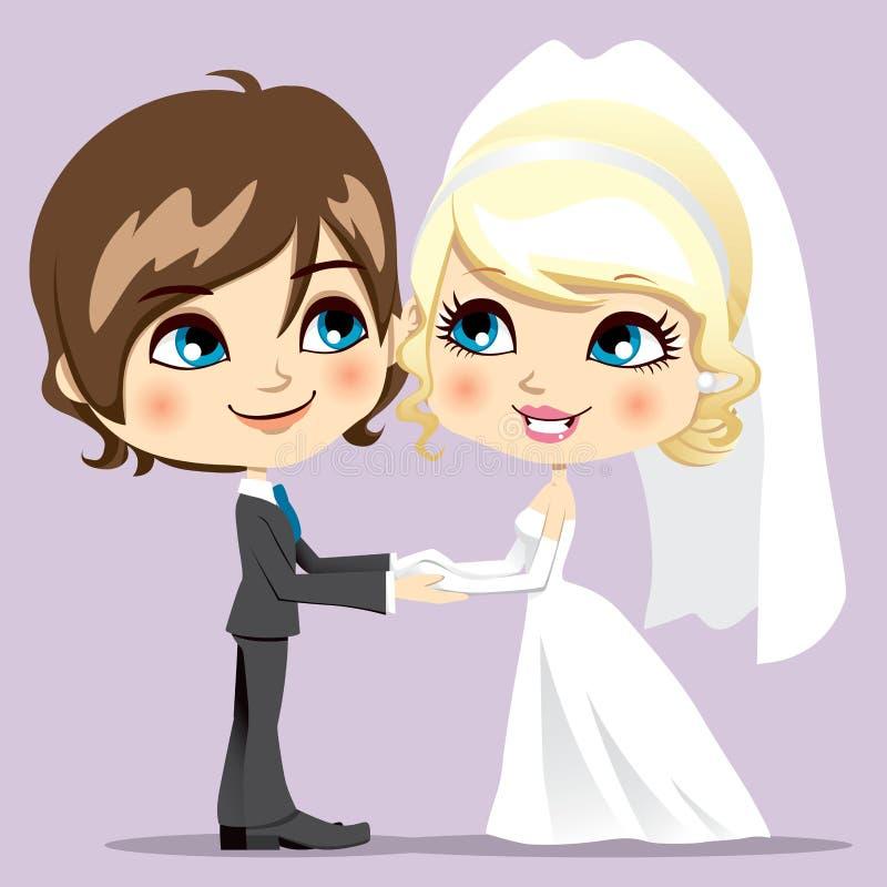 Jour du mariage doux illustration libre de droits