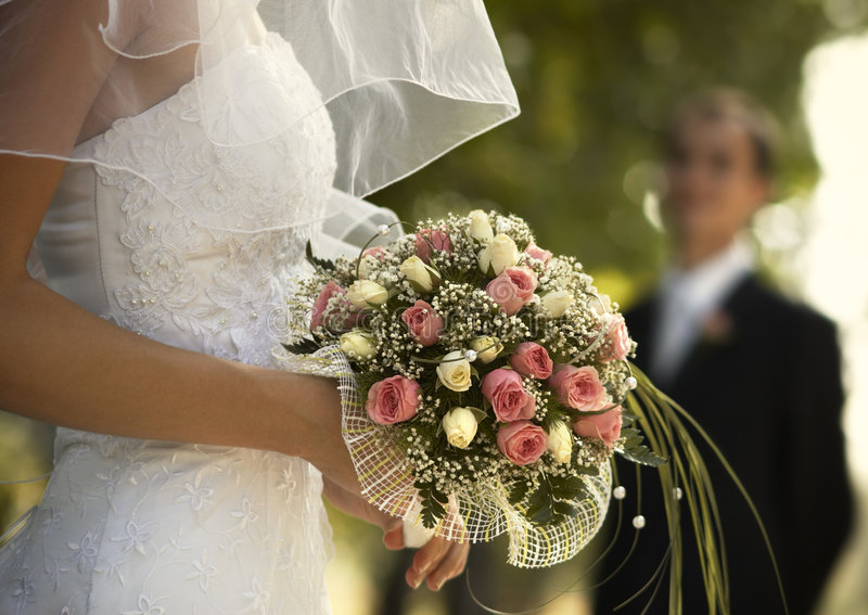 Jour du mariage (photo spéciale f/x) images stock