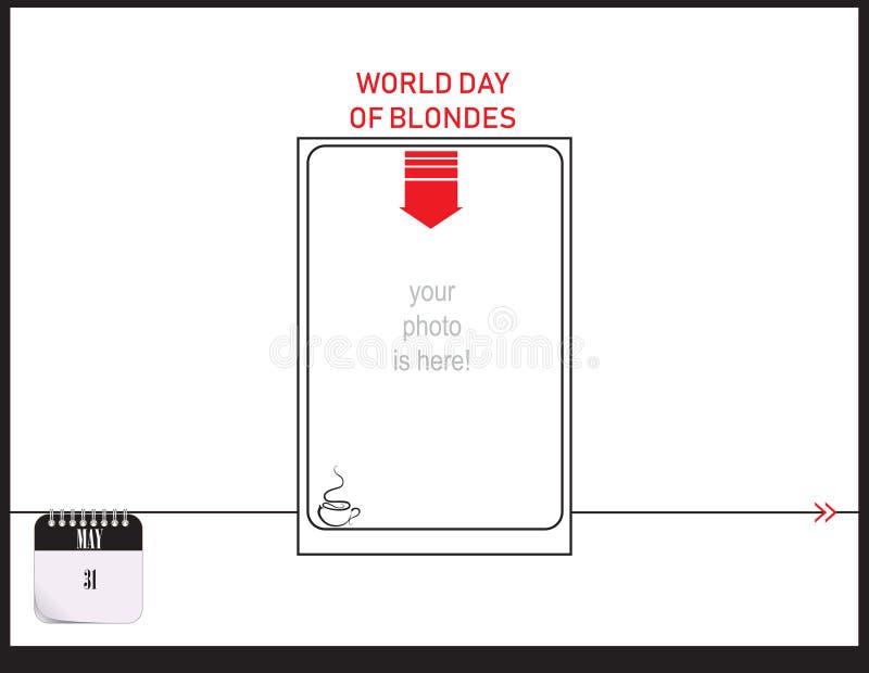 Jour du monde de carte postale des blondes illustration libre de droits