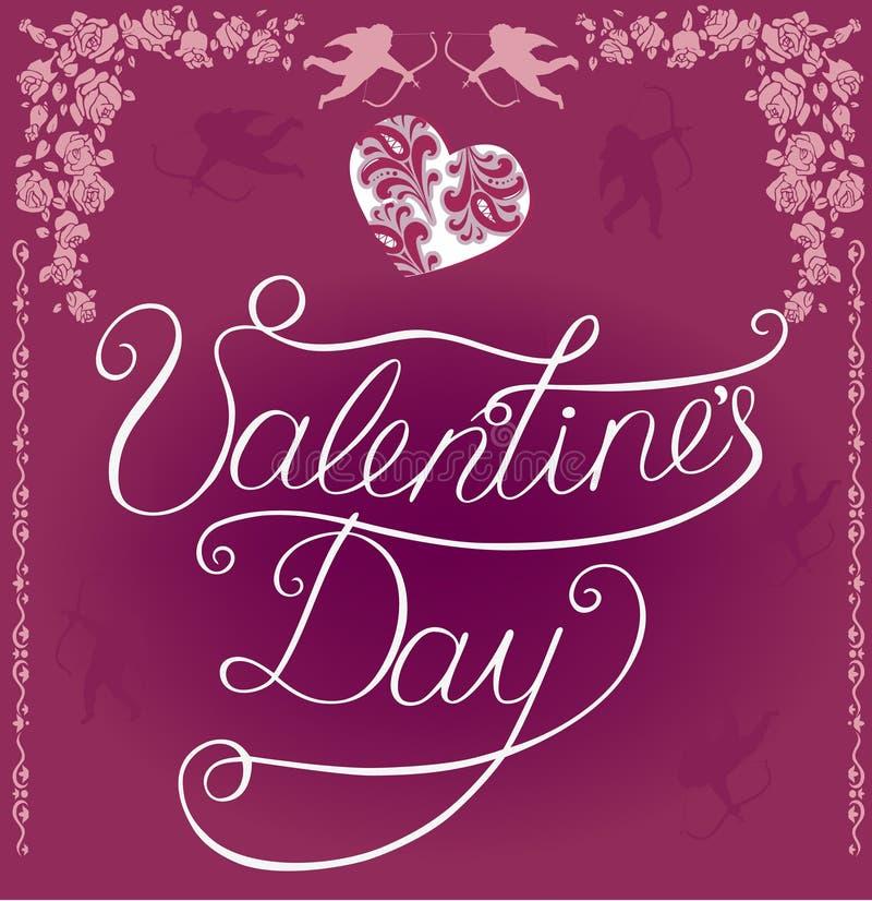 Jour du `s de Valentine illustration de vecteur