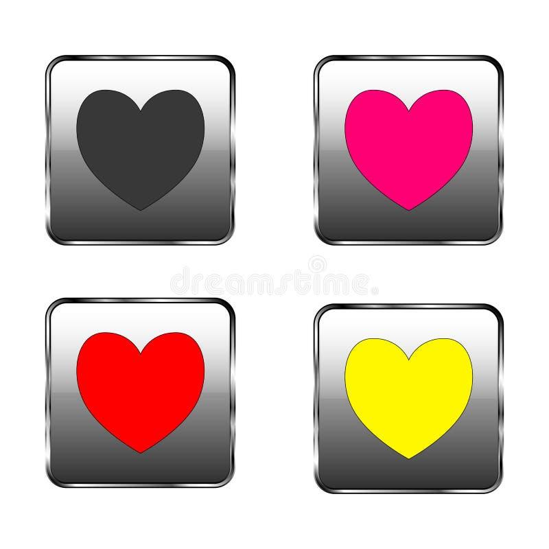 Jour du ` s de Valentine - bouton de coeur illustration de vecteur