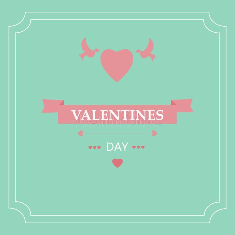 Jour du ` s de Valentine de carte Éléments de conception ENV 10 photographie stock libre de droits