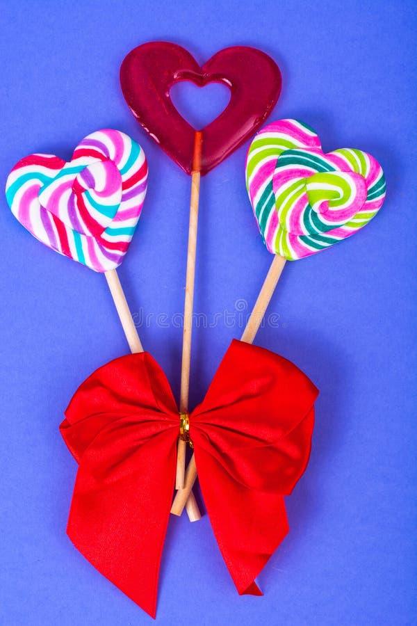 Jour du `s de Valentine Le concept de l'amour, sucrerie d'amoureux photographie stock libre de droits