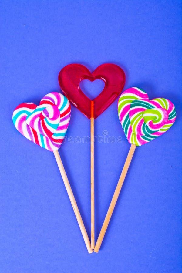 Jour du `s de Valentine Le concept de l'amour, sucrerie d'amoureux images libres de droits