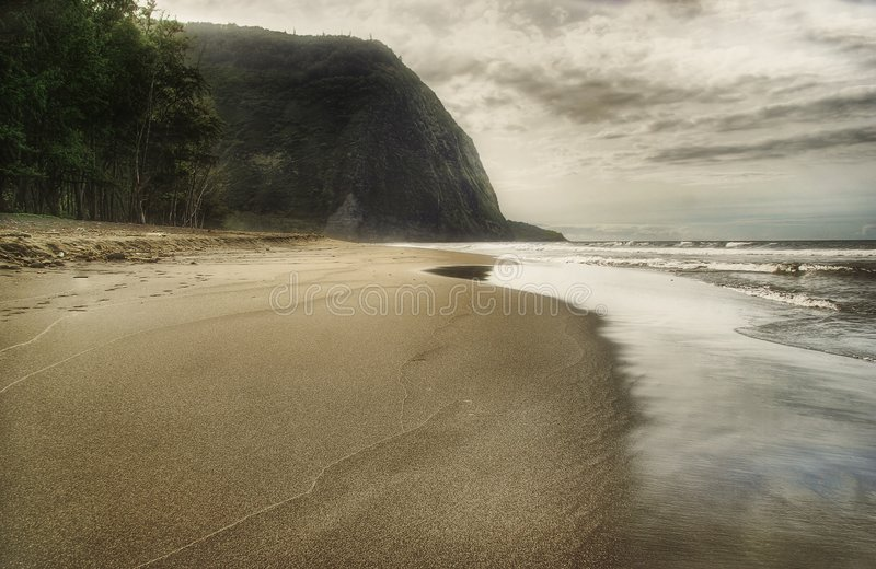 Jour du sable noir beach-2 image libre de droits